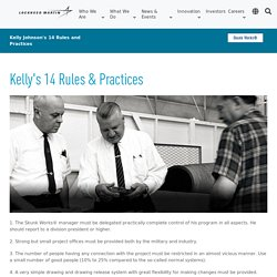 Kelly Johnson's 14 Rules and Practices