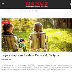 La joie d'apprendre dans l'école du 3e type – Nexus