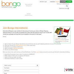 Join Bongo International, Go Shop!