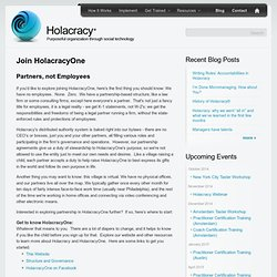Join HolacracyOne