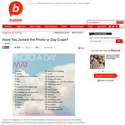 Join the Photo-a-Day Monthly Challenges