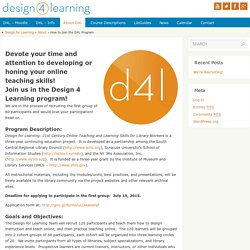 How to Join the D4L Program - Design for Learning