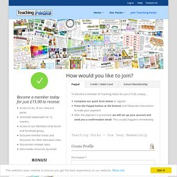 Join Teaching Packs -