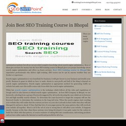 Join Best SEO Training Course in Bhopal