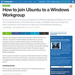 How to join Ubuntu to a Windows Workgroup