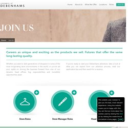 Debenhams Careers