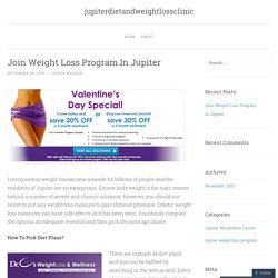 Join Weight Loss Program In Jupiter