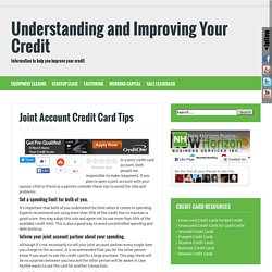 joint account credit cards