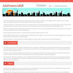 Joint Ventures Property in Pune