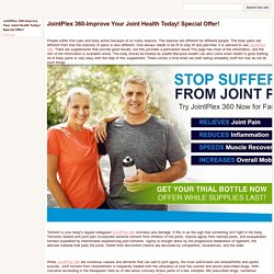 JointPlex 360-Improve Your Joint Health Today! Special Offer!