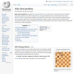 Joke chess problem
