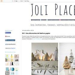 DIY : Une décoration de Noël en papier