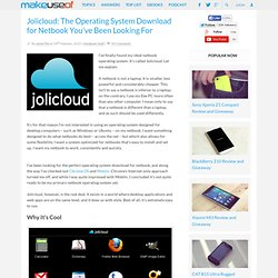 Jolicloud: The Operating System Download for Netbook You've Been Looking For