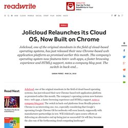 Jolicloud Relaunches its Cloud OS, Now Built on Chrome