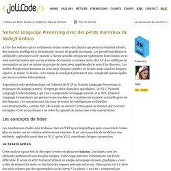 Natural Language Processing avec des petits morceaux de NodeJS dedans