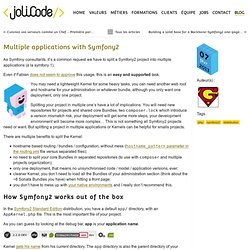 Multiple applications with Symfony2