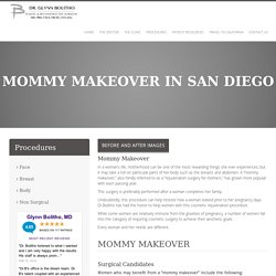 La Jolla, San Diego Mommy Makeover Surgery by Dr. Bolitho