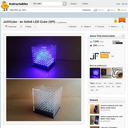 JolliCube - an 8x8x8 LED Cube (SPI) - All