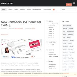 Magazine - New JomSocial 2.4 theme for TWN 2