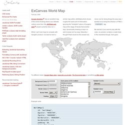 ExCanvas World Map