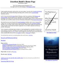 Jon Haidt's Home Page