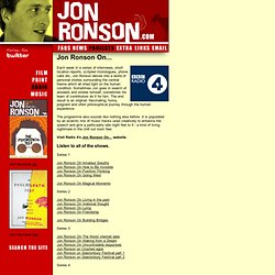 jon ronson on... | jonronson.com