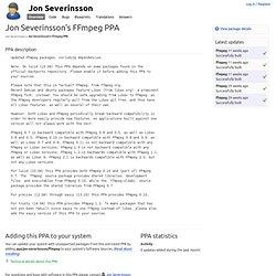 Jon Severinsson's FFmpeg PPA : Jon Severinsson