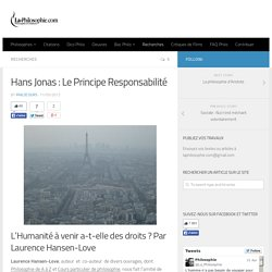 Hans Jonas : Le Principe Responsabilité