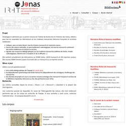 JONAS - Section Romane - IRHT