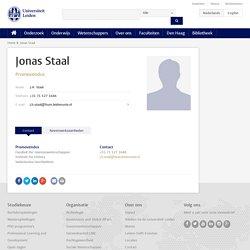 Jonas Staal - Universiteit Leiden