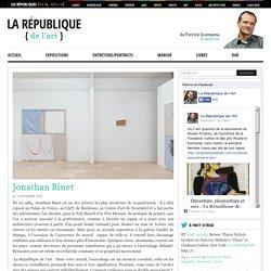 Jonathan Binet - La République de l'Art