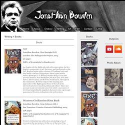 Jonathan Bowden - Books