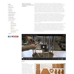 Jonathan Keep, Self build Delta 3D printer