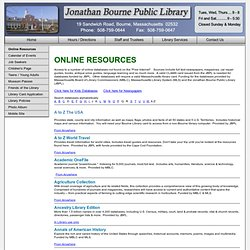 Jonathan Bourne Public Library - Bourne, Massachusetts