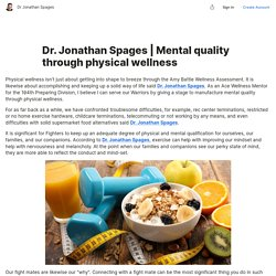 Mental quality through physical wellness