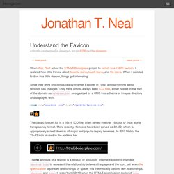 Jonathan T. Neal | Understand the Favicon