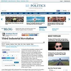 Jonathon Porritt: Third Industrial Revolution