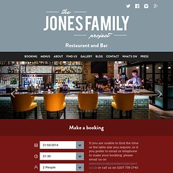 The Jones Family Project - Food, Drink and Great Times - The Jones Family Project