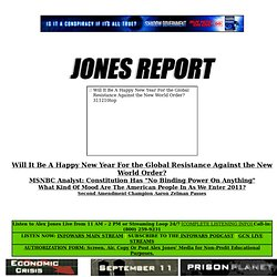 JONES REPORT :: Alex Jones Presents the Truth in Black and White