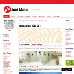 Jonk Music: Best Songs of 2010: 25-11