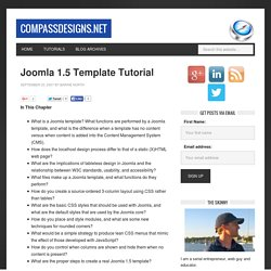 Joomla 1.5 Template Tutorial