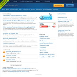 The Joomla! Community Portal