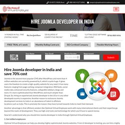 Hire a Joomla developer from India
