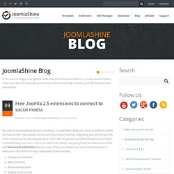 Free Joomla 2.5 extensions to connect to social media - Blog