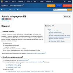 Joomla info page/es-ES