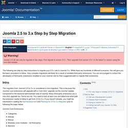 Joomla 2.5 to 3.x Step by Step Migration