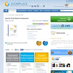 Joomla! Quiz Deluxe extension - Extensions, addons, plugins, bridges for Joomla 3.0, 2.5 and 1.5 by JoomPlace