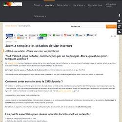 Joomla template et création de site internet joomla