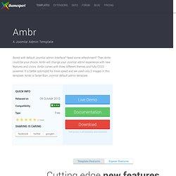 Ambr - A Joomla! Admin Template