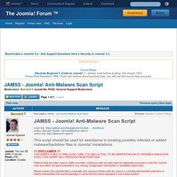 JAMSS - Joomla! Anti-Malware Scan Script